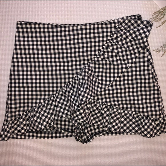 Zara Dresses & Skirts - Gingham skirt with shorts interior- skort- Zara